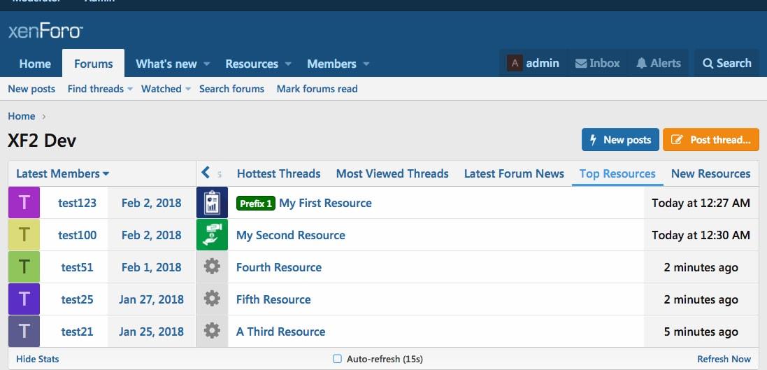 AJAX) Advanced Forum Stats | XenForo 2 Addon | AddonFlare - Premium